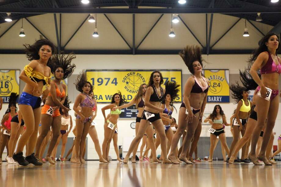 Dancers and performers audition to be part of the next group of Warrior Girls, the official dance team of the Golden State Warriors.  The 2013 Warrior Girls Preliminary Auditions were on Saturday, July 20, 2013 at the Warriors Practice Facility in Oakland, CA Photo: Katie Meek, The Chronicle