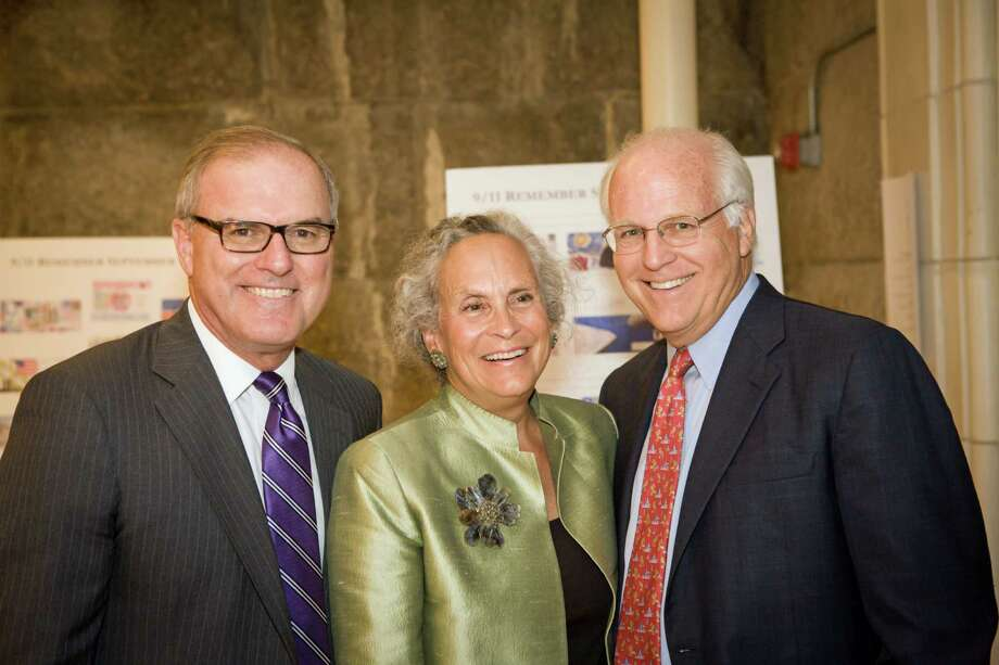 at the sixth annual Voices of September 11th gala held in New York City on Oct. 16, 2013. Photo: Contributed Photo / New Canaan News