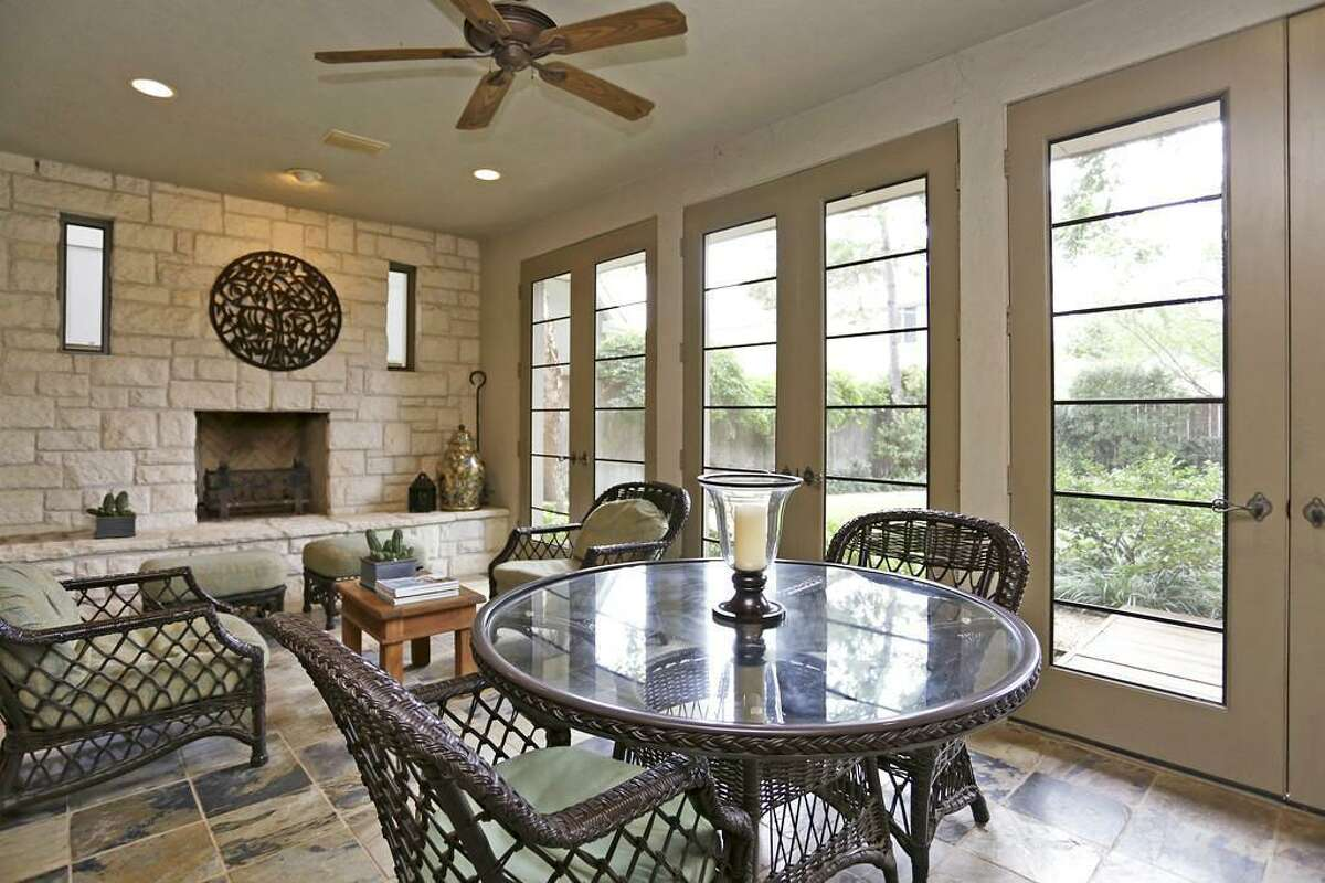 Four fireplaces are found throughout the home.