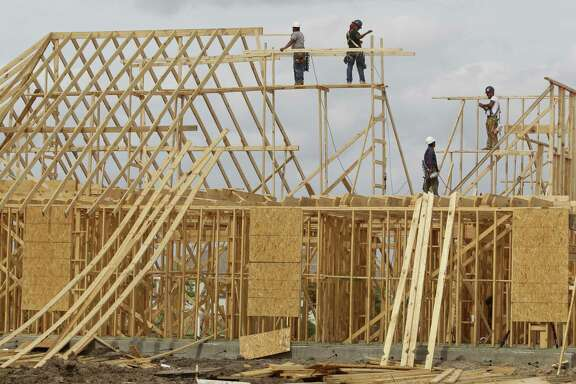 New home construction is shown in Aliana, a master-planned community in Fort Bend County, Tuesday, Oct. 29, 2013, in Richmond.  ( Melissa Phillip / Houston Chronicle )