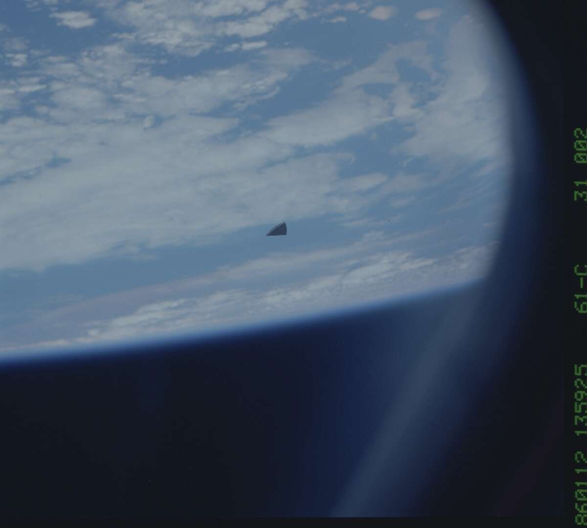 Hi-res snapshot of the mysterious object in space. (Check out the story for what it is).