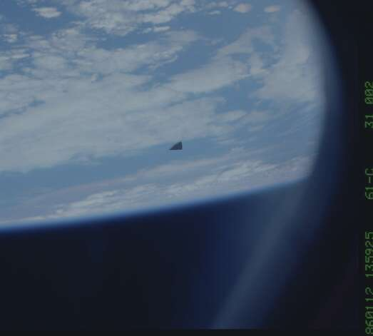 Hi-res un'istantanea del misterioso oggetto nello spazio.  (Scopri la storia per quello che è).  Foto: multipla