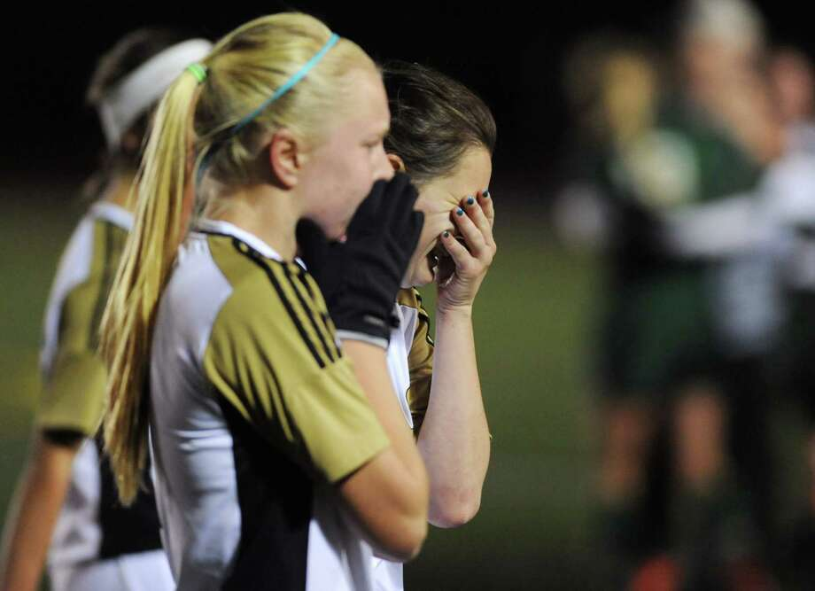 Photos from SWC girls soccer semifinals game between New Milford and Joel Barlow at Brookfield High School in Brookfield, Conn. on Tuesday, Oct. 29, 2013. Photo: Tyler Sizemore / The News-Times