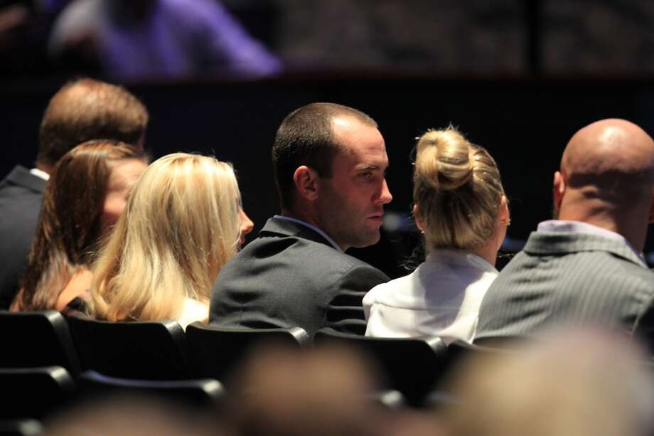 Texans quarterback Matt Schaub at Bum Phillips' service at Lakewood Church. Photo: Mayra Beltran, Houston Chronicle