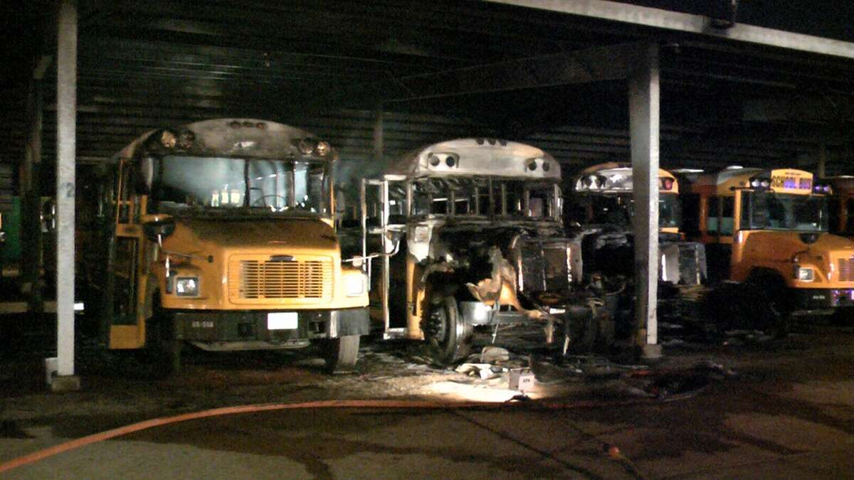 Investigators are looking into a blaze that erupted about 1:30am Wednesday at the Conroe Independent School District's bus barn at 108 Gladstell and Interstate 45. See more at Montgomery County Police Reporter.