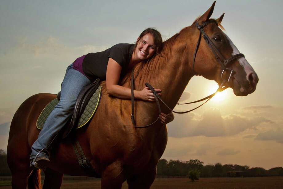 Madeleine Lander rides at Inn at Dos Brisas. Photo: Smiley N. Pool, Staff / © 2011  Houston Chronicle