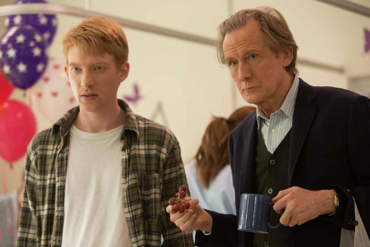 """Tim (DOMHNALL GLEESON) and Tim's Dad (Bill Nighy) in """"About Time"""", the new comedy about love and time travel from writer/director Richard Curtis, which discovers that, in the end, making the most of life may not need time travel at all."""