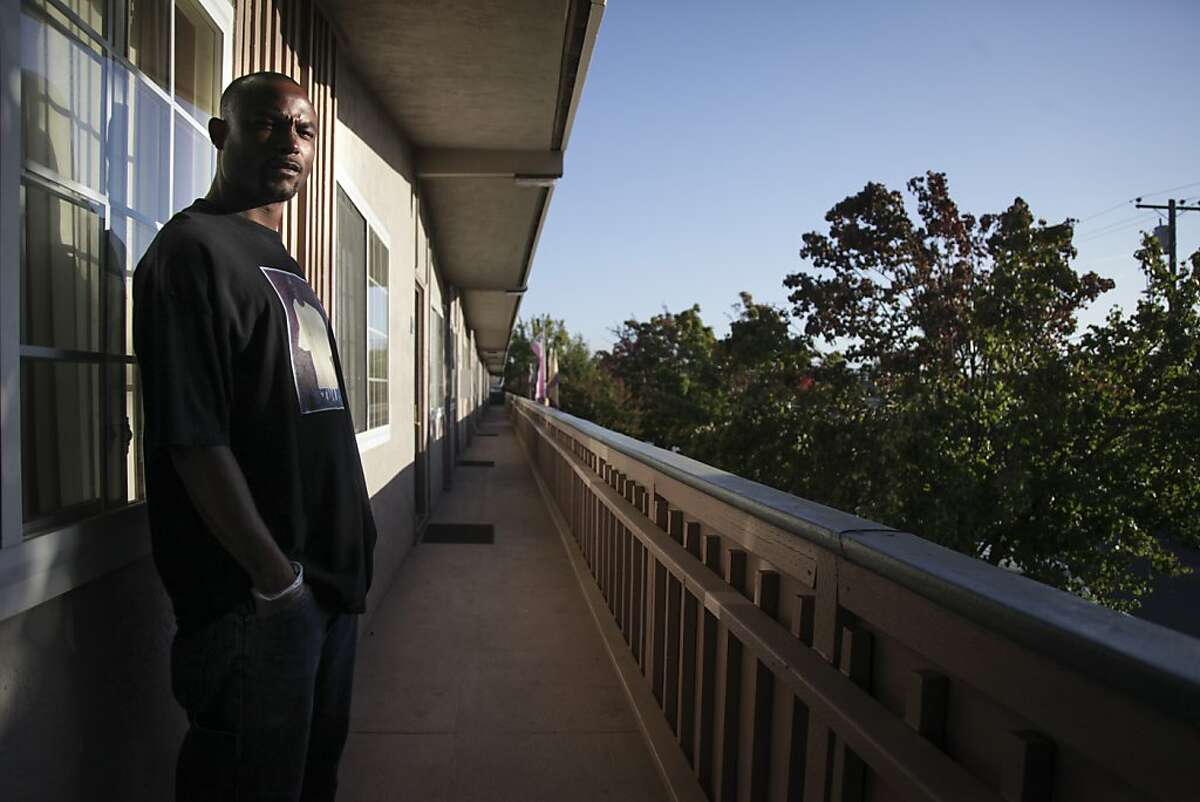 Maurice Rowland, the only worker that stayed behind to help patients after the closing of the Castro Valley Manor Residential Facility, poses for a portrait at his home in Hayward on October 29th 2013.