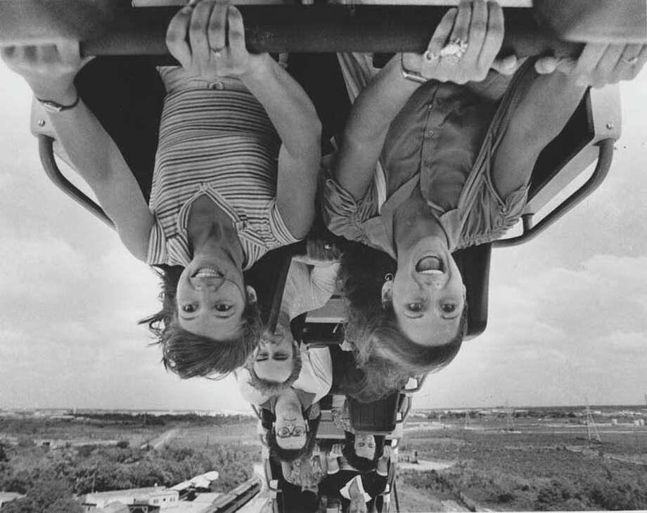 PHOTOS: When Astroworld ruled HoustonRiders enjoy the Greezed Lightnin' shuttle loop on May 13, 1978.Click through to take a trip back in time... Photo: Mike Robinson, Houston Chronicle
