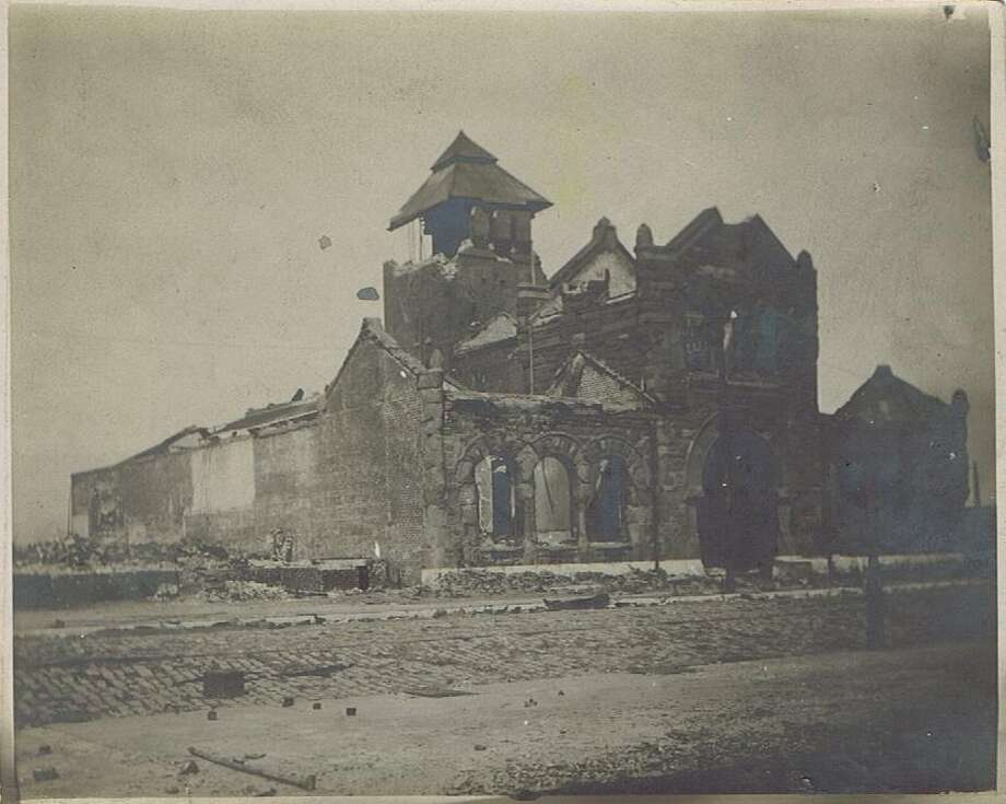 Image showing some of the destruction from the 1906 San Francisco Earthquake and fire. The exact location is unknown.