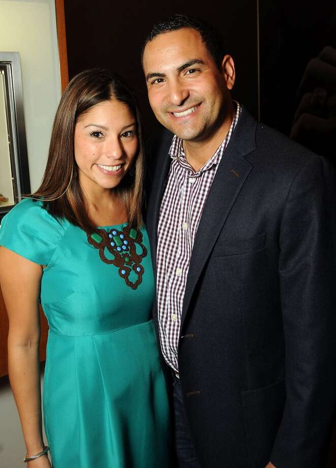 Julie and Johnny Garza at a VIP preview event for David Yurman's Meteorite Collection Tuesday Oct. 29,2013.  (Dave Rossman photo) Photo: Dave Rossman, For The Houston Chronicle