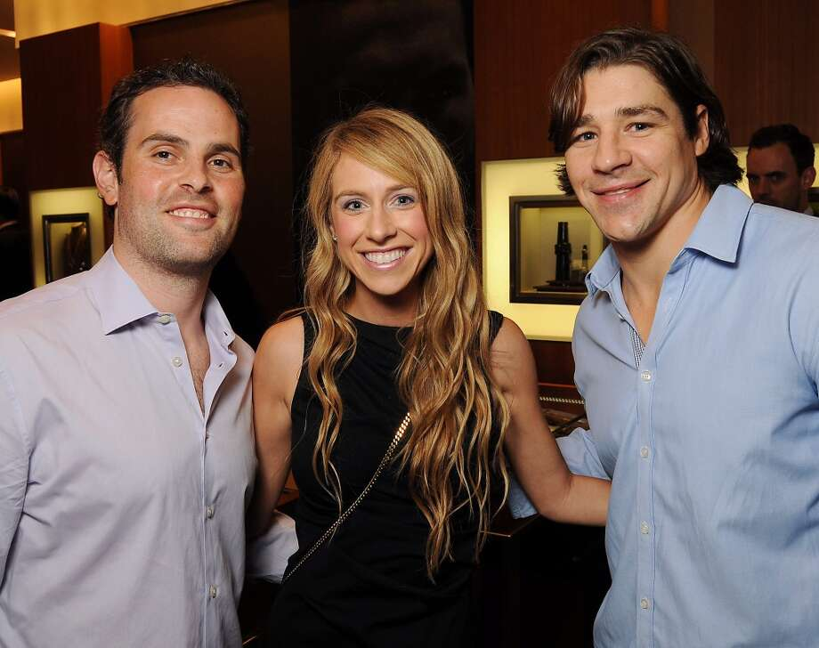 From left: Jason and Stephanie Kohll with Jed Ortmeyer at a VIP preview event for David Yurman's Meteorite Collection Tuesday Oct. 29,2013.  (Dave Rossman photo) Photo: Dave Rossman, For The Houston Chronicle