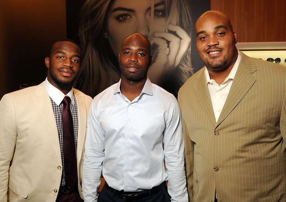 From left: Kareem Jackson, Johnathan Joseph and Travis Johnson at a VIP preview event for David Yurman's Meteorite Collection Tuesday Oct. 29,2013.  (Dave Rossman photo) Photo: Dave Rossman, For The Houston Chronicle