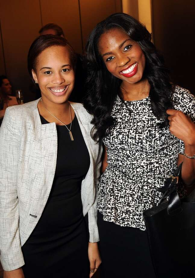 Leila Clewis and Eddrea McKnight at a VIP preview event for David Yurman's Meteorite Collection Tuesday Oct. 29,2013.  (Dave Rossman photo) Photo: Dave Rossman, For The Houston Chronicle