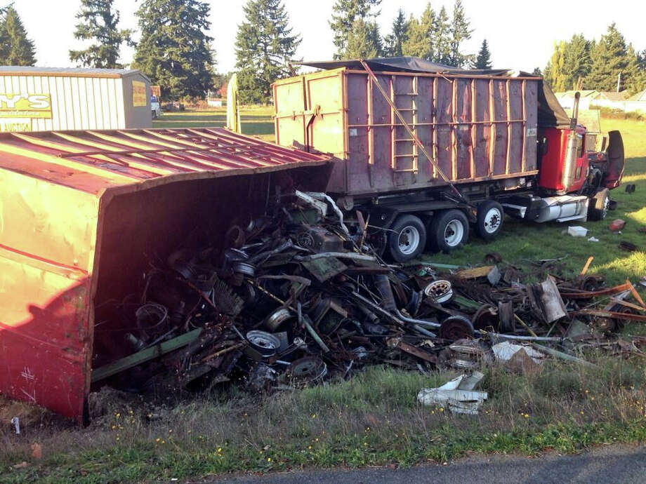 A Thurston County wreck, pictured Tuesday, Oct. 29, 2013. State Patrol photo.