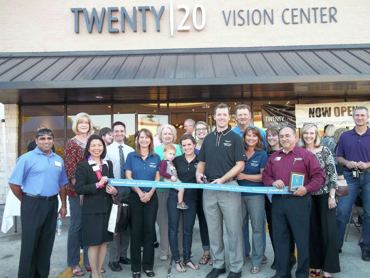 The ribbon cutting drew family, friends and employees to the Twenty 20/Vision Center in Friendswood.