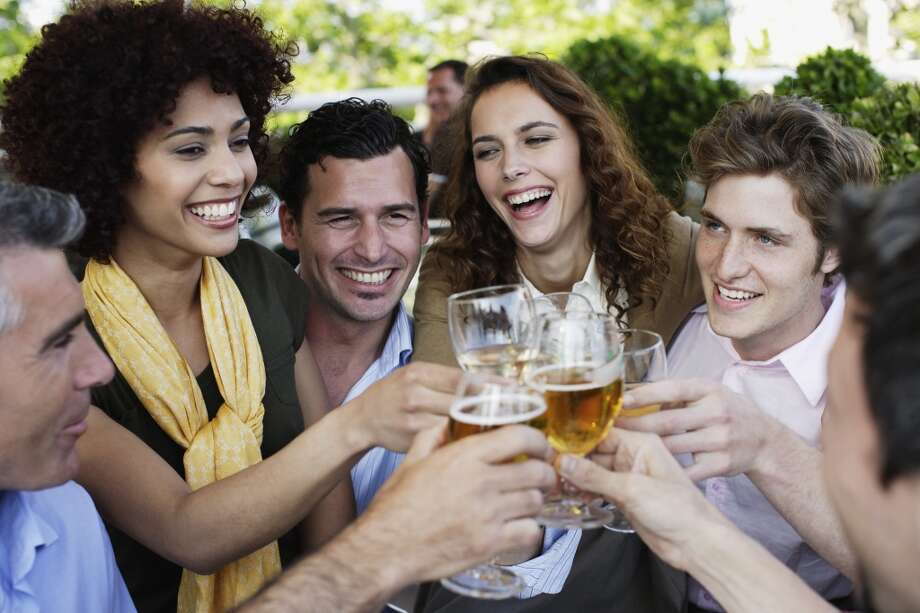 Beer drinkersA 2011 study examined beer drinkers,but scientists think people who drink any type of alcohol may be more likely to attract the little blood-suckers. Photo: Floresco Productions, Getty Images/OJO Images RF