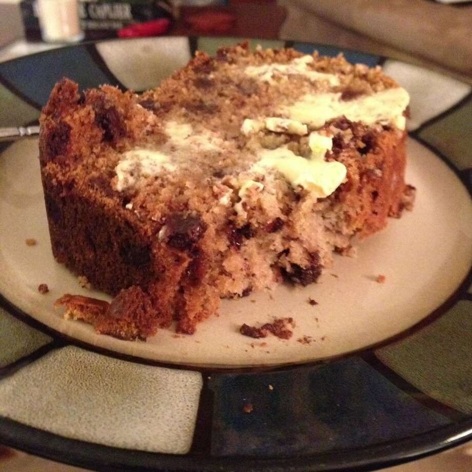 Homemade chocolate chip banana bread from Amanda Talar.