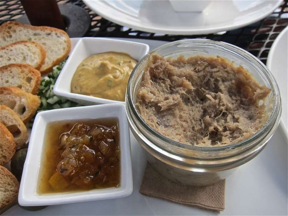 Pork rillettes with mustard and apple compote at Brooklyn Athletic Club. Photo: Alison Cook