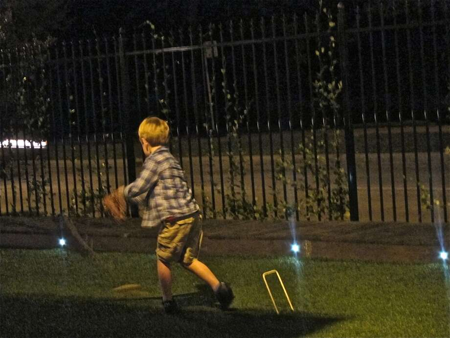 Night croquet at Brooklyn Athletic Club. Photo: Alison Cook