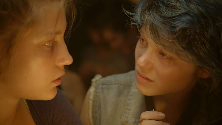 "Adele Exarchopoulos (left) and Lea Seydoux bring both poignancy and erotic heat to ""Blue Is the Warmest Color."" Photo: Courtesy Of Sundance Selects"
