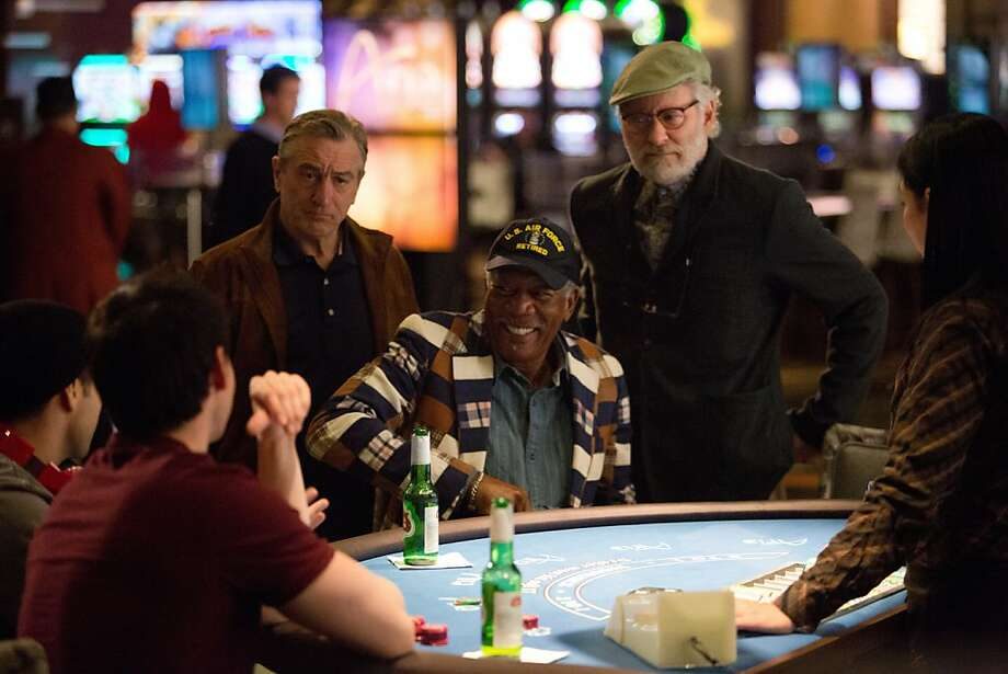 Robert De Niro (as Paddy Connors), Morgan Freeman (as Archie Clayton), and Kevin Kline (as Sam Harris) star in CBS Films' comedy LAST VEGAS. Photo: Chuck Zlotnick, CBS Films