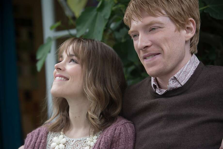 "Rachel McAdams and Domhnall Gleeson star in ""About Time,"" a romantic science fiction comedy-drama saved by a sharp script. Photo: Murray Close, Universal Pictures"