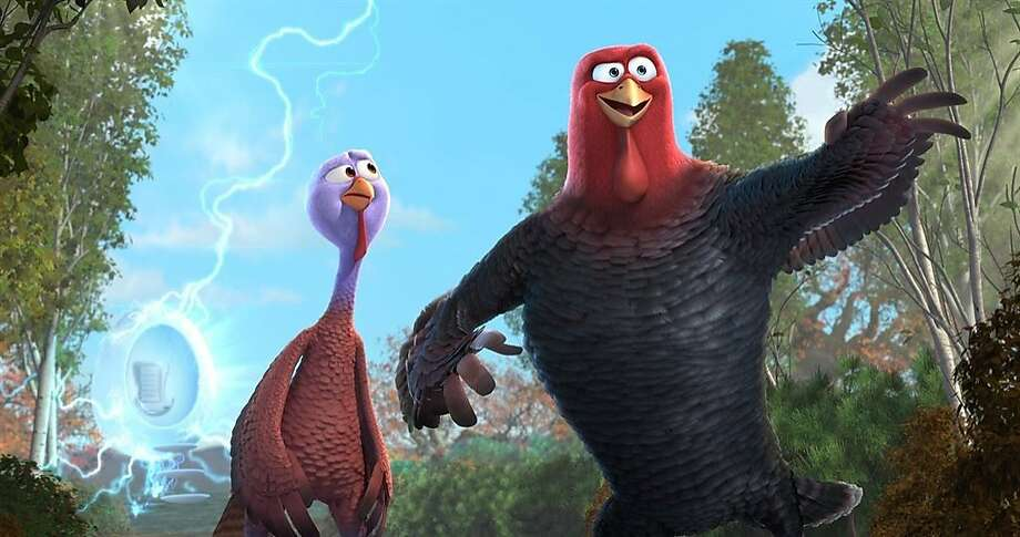 """Free Birds,"" the animated family film of the current holiday, features the voices of Owen Wilson, Woody Harrelson and Amy Poehler. Photo: Relativity Media"