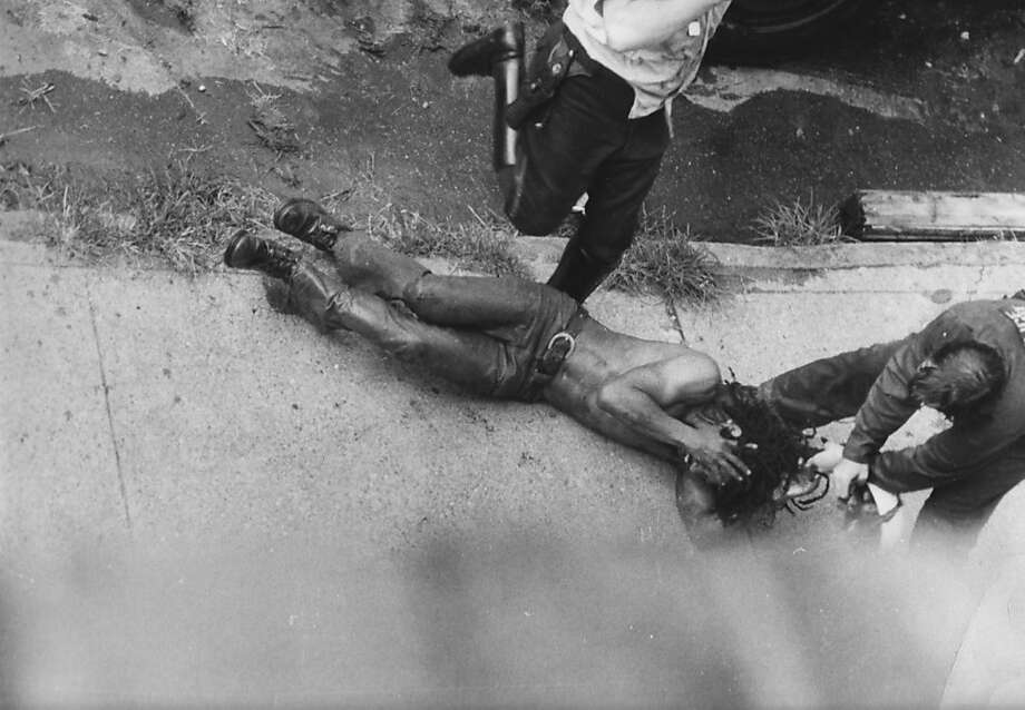 Philadelphia police beat Delbert Africa, a member of the black separatist group MOVE in the 1970s. Photo: Zeitgeist Films