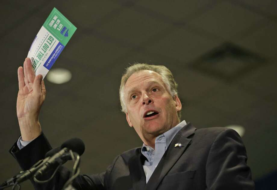 Virginia Democratic gubernatorial candidate Terry McAuliffe has a double-digit lead over Republican Ken Cuccinelli, thanks in large part to the trickle-down disgust over tea party leaders in Congress. Photo: Steve Helber / Associated Press