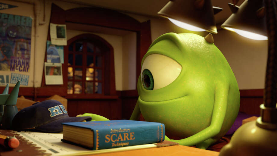 "This film publicity image released by Disney-Pixar shows the character Mike, voiced by Billy Crystal, in a scene from ""Monsters University."" (AP Photo/Disney-Pixar) Photo: Pixar / Disney-Pixar"