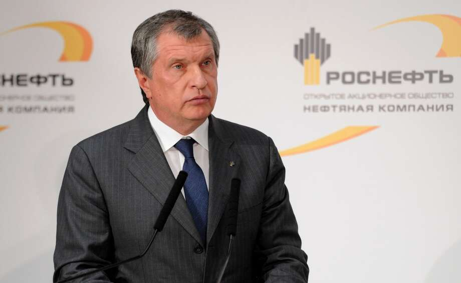 No. 60 -- Rosneft Chairman Igor Sechin, 53  Sechin, President Vladimir Putin's former deputy chief of staff, took the helm at Rosneft in May 2012 and soon after lead  a major deal to buy BP's interest in energy company TNK-BP.  [Photo: CEO of state-controlled Russian oil company Rosneft Igor Sechin commissions  new equipment at the Rosneft oil refinery in the Black Sea port of Tuapse, southern Russia, Friday, Oct. 11, 2013.] Photo: Alexei Nikolsky, Associated Press