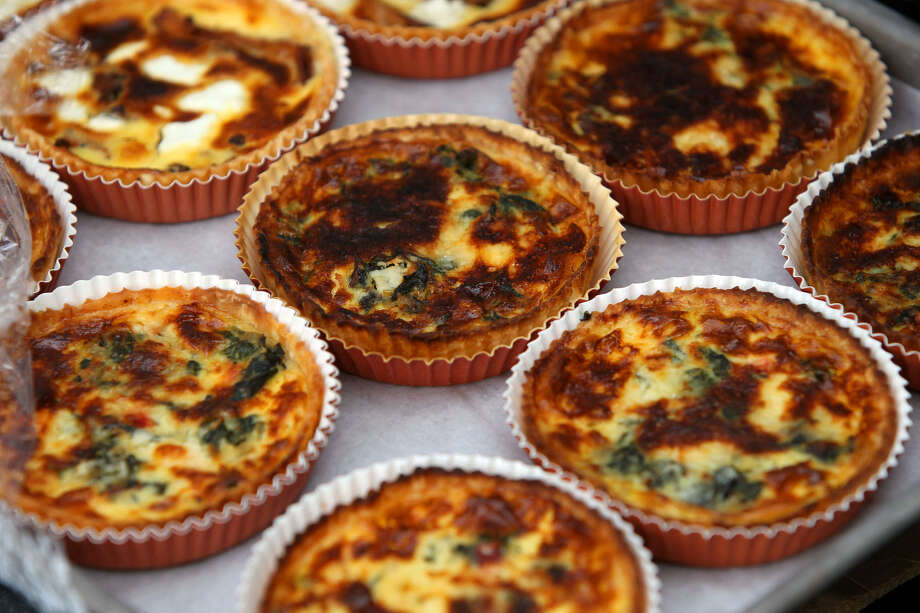 Small quiches from Bakery Lorraine are among the products sold at the Grayson Street bakery. Photo: Express-News File Photo