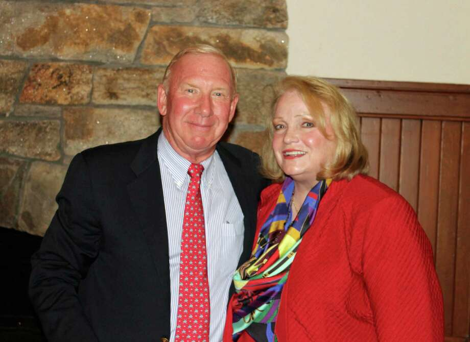 Family Centers honored board member and Darien resident Kip Koons, shown with board chairman Jan Dilenschneider, for his 25 years of contributions to the agency. Photo: Contributed Photo / Darien News