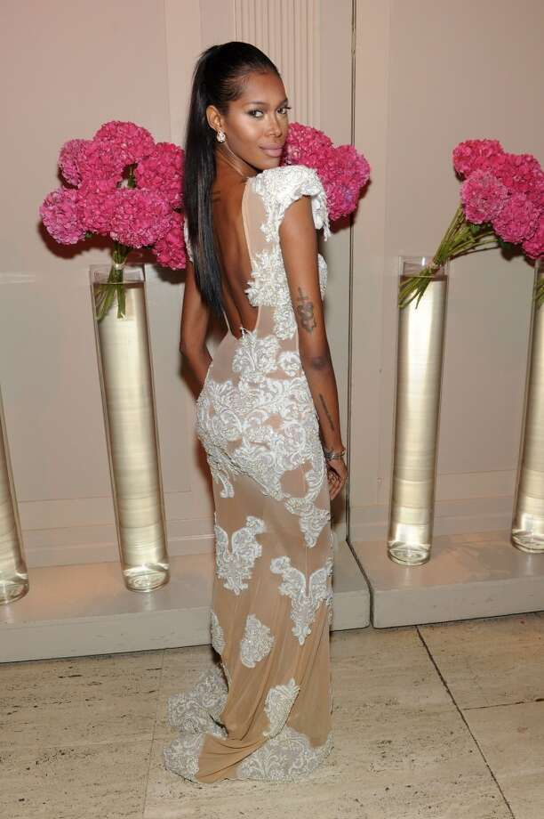 Model Jessica White attends Gabrielle's Angel Foundation Hosts Angel Ball 2013 at Cipriani Wall Street on October 29, 2013 in New York City.  (Photo by Jamie McCarthy/Getty Images for Gabrielle's Angel Foundation) Photo: Jamie McCarthy