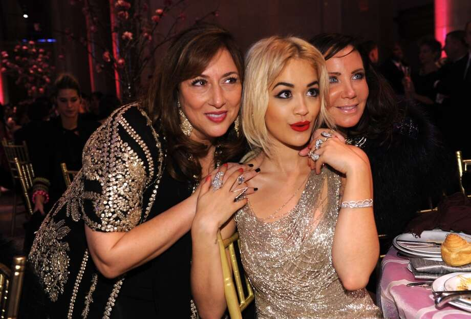 Jewelry Designer Lorraine Schwartz (L) and Rita Ora (C) attend Gabrielle's Angel Foundation Hosts Angel Ball 2013 at Cipriani Wall Street on October 29, 2013 in New York City.  (Photo by Dimitrios Kambouris/Getty Images for Gabrielle's Angel Foundation) Photo: Dimitrios Kambouris