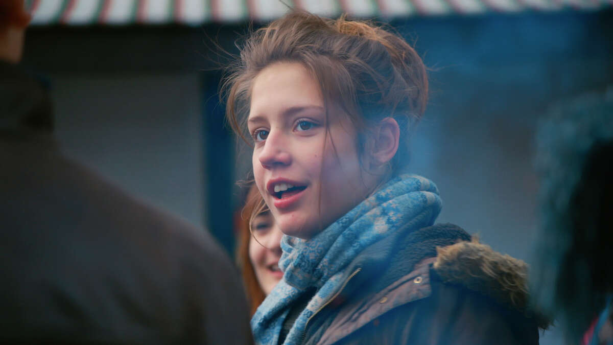 """Adele Exarchopoulos in """"Blue Is the Warmest Color"""": Great, despite drippy nose."""