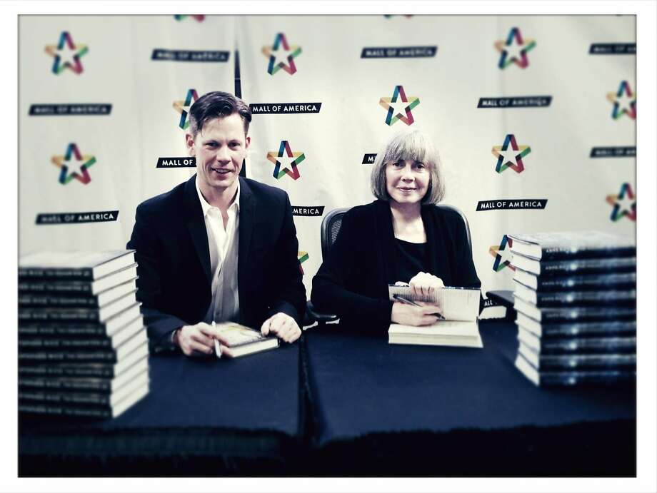 Writer Christopher Rice and  his mother, fellow New York Times best selling author Anne Rice. Photo: Becket Ghioto