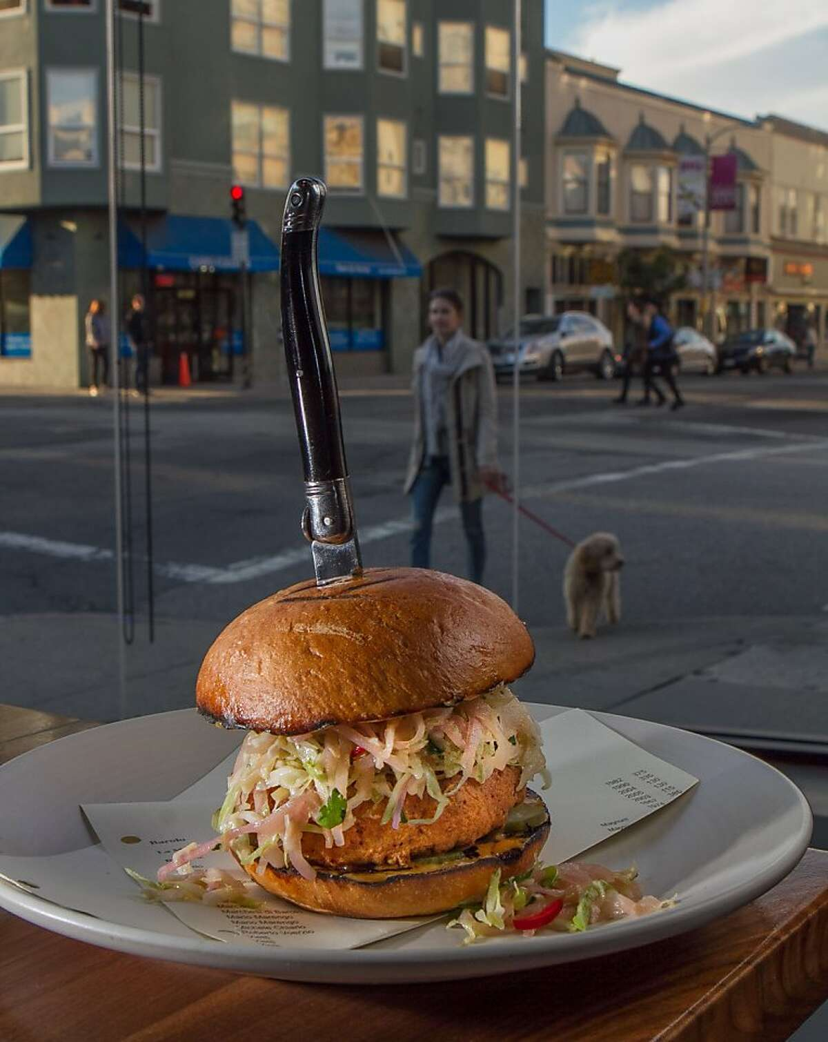 The fried Duck Sandwich at 1760 in San Francisco, Calif., is seen on October 25th, 2013.