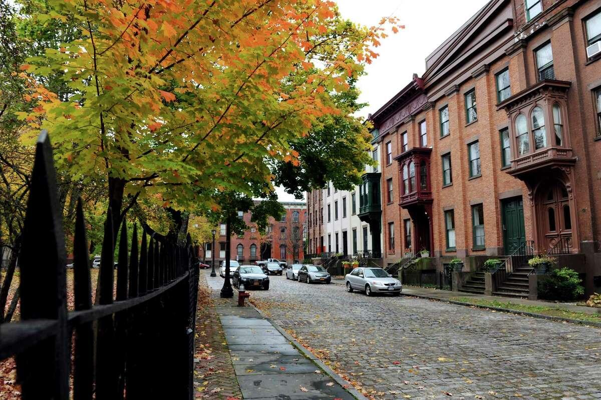 The neighborhood around Washington Park on Wednesday, Oct. 30, 2013, in Troy, N.Y. (Cindy Schultz / Times Union)