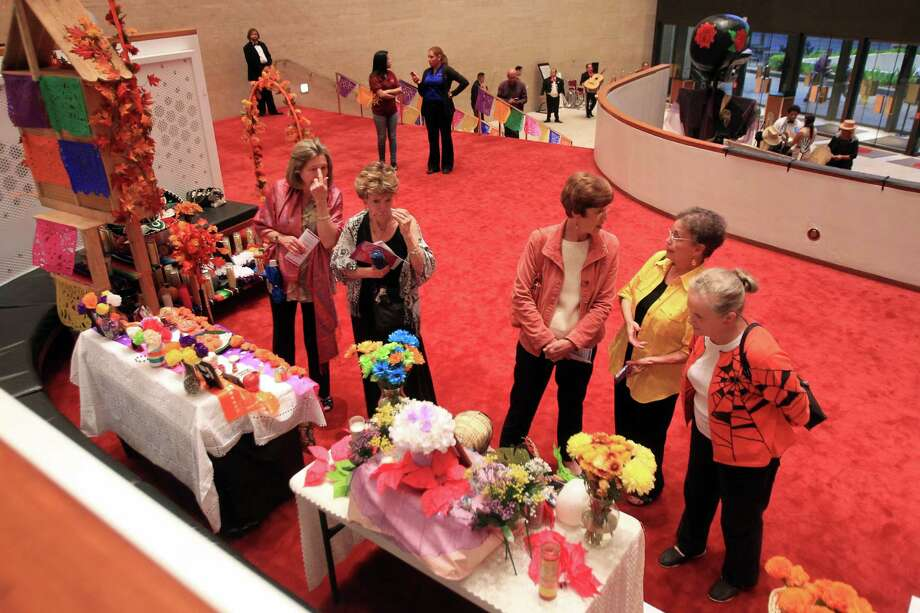 The Houston Symphony and the Mexican Consulate of Houston are partnering to display of Day of the Dead altars in Jones Hall on Wednesday, Oct. 30, 2013, in Houston. Photo: Mayra Beltran, Houston Chronicle / © 2013 Houston Chronicle