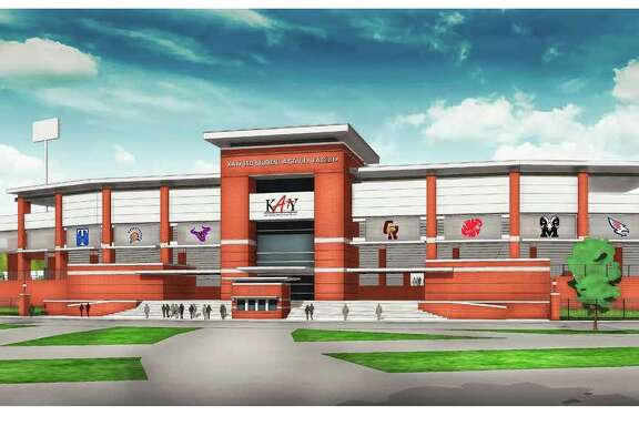 The proposed 14,000-seat stadium was to have been constructed on district-owned property north of and adjacent to Rhodes Stadium at 1733 Katy-Fort Bend Road.