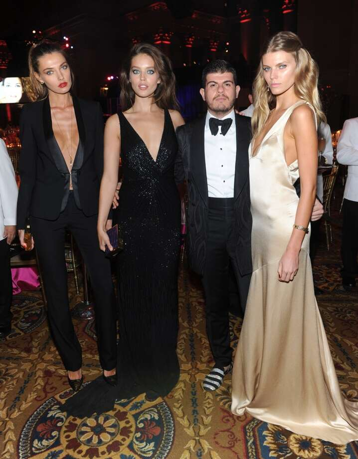 (L-R) Alina Baikova, Emily DiDonato, Eli Mizrahi, and Maryna Linchuk attend Gabrielle's Angel Foundation Hosts Angel Ball 2013 at Cipriani Wall Street on October 29, 2013 in New York City.  (Photo by Jamie McCarthy/Getty Images for Gabrielle's Angel Foundation) Photo: Jamie McCarthy