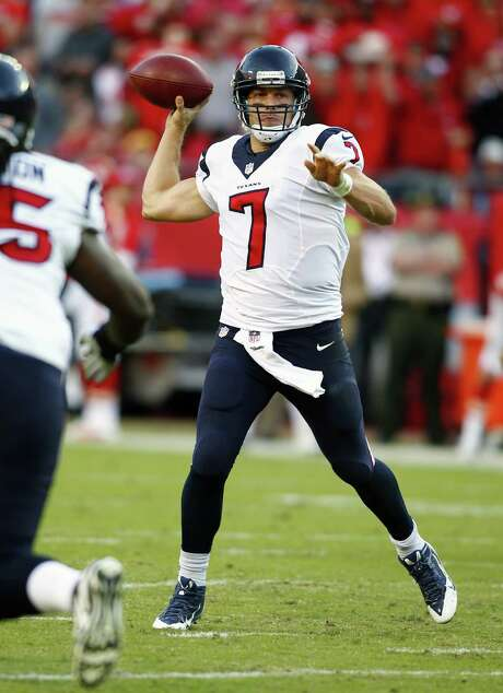 Case Keenum will make his second start when the Texans face Andrew Luck and the Colts on Sunday. Photo: Jay Biggerstaff / Associated Press