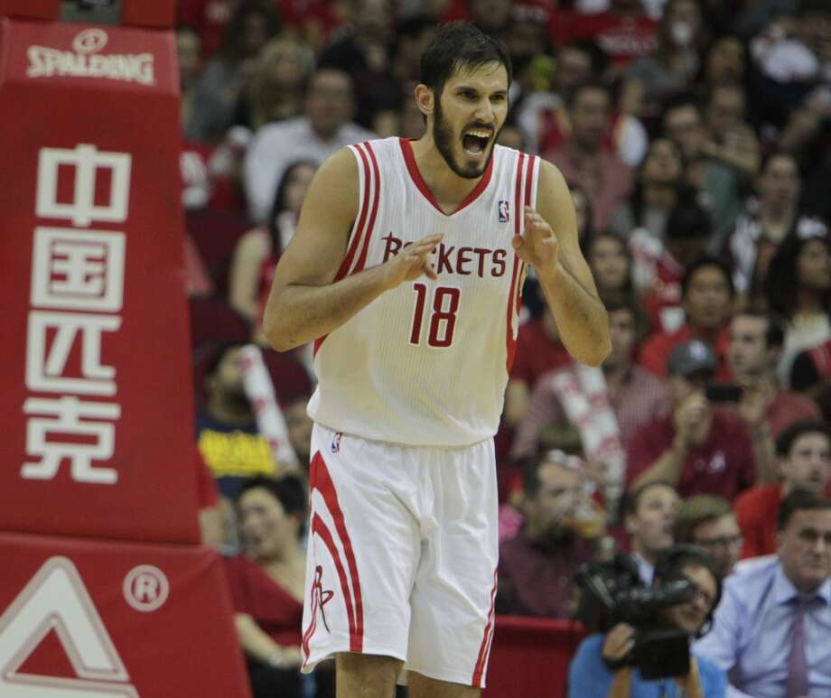 Omri Casspi of the Rockets during the season opener against the Bobcats. Photo: James Nielsen, Houston Chronicle