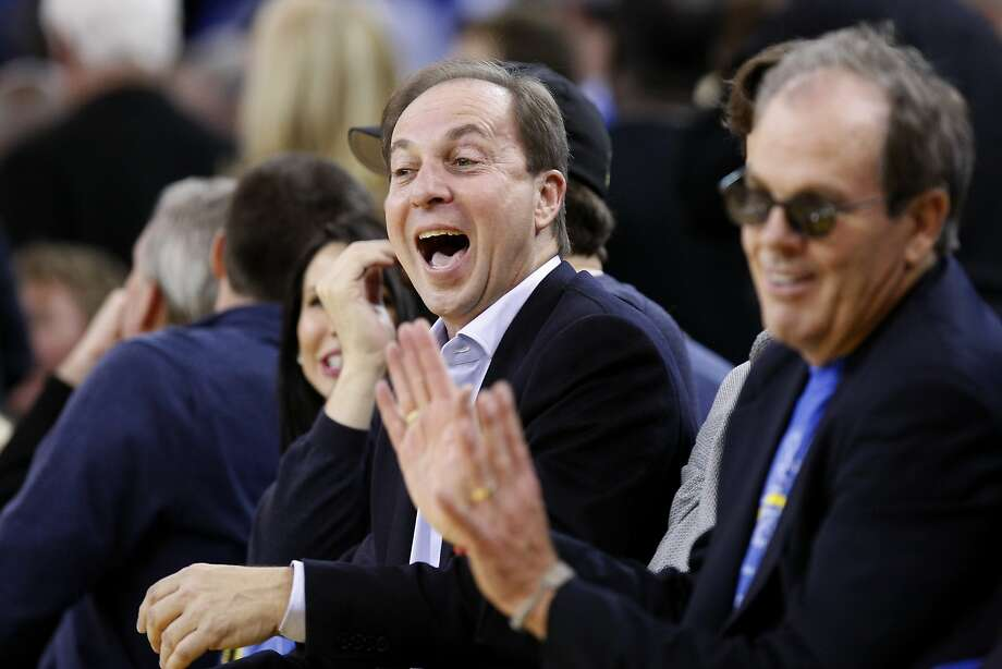 Warrior's owner Joe Lacob cheers in the fourth quarter as the Golden State Warriors open their season against the Los Angeles Lakers at Oracle Arena in Oakland, CA Wednesday, October 30, 2013. Photo: Michael Short, The Chronicle