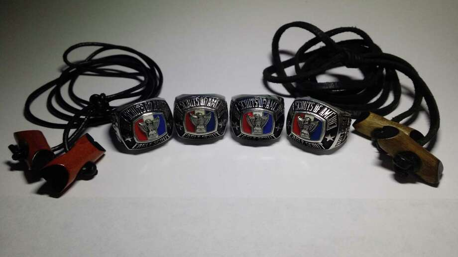 The Arnold family of Tomball has four Eagle Scout ring holders. Photo: Courtesy Of Boy Scout Troop 1659