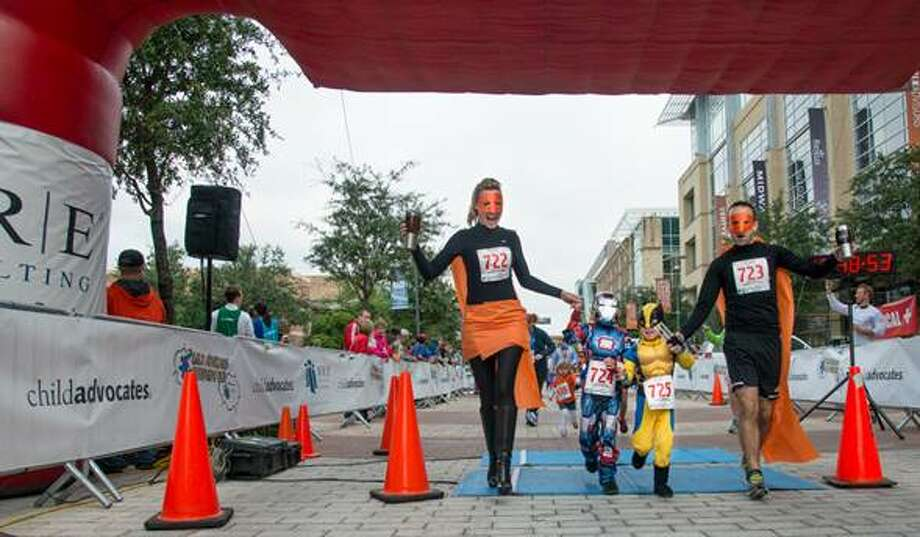 More than 600 people participated in the Child Advocates Superhero Run on Oct. 19. Photo: Courtesy Of Design At Work