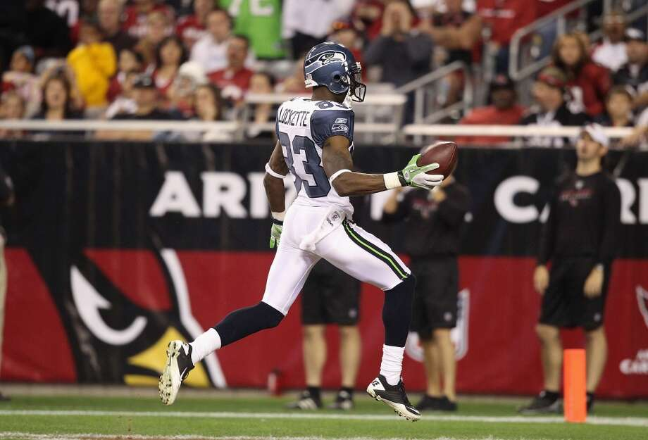 "Q: You just activated receiver Ricardo Lockette (pictured in 2011) to take Sidney Rice's roster spot. You seemed to like him last year but he didn't make the team. Are you happy to have him back?  PC: ""Well he just kind of got caught in the numbers. He's always been a tremendous, high-potential guy. He has great speed, he has fantastic catching range and hands.  He's a very inexperienced football player; he did not come out of college with a lot of background. And so he was behind trying to catch up all of the time.   ""He's had his moments with us and we really appreciate what he brings. The experiences that he's had in the other two clubs that he's been with seem to have broadened his sense and awareness and stuff. When we got him back out here, he jumped right back it. He recalled what we had done, he didn't get confused by the new systems. So he's put himself in a chance to compete to be part of this team. We know that he's got great range, he's got great speed, and we love that he adds to the group.""  Q: Who picks up most of the slack for Rice? Is it Golden Tate?  PC: ""We try to throw to Golden as much as we can, so nothing changes about that."" Photo: Christian Petersen, Getty Images"