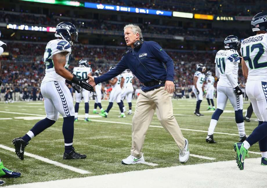 "Q: Now that we're halfway through the season, how do you feel about where the Seahawks are?  PC: ""Well we've accomplished all that we could with what was left after the (Indianapolis) loss. It was really important that we finish this first half; we do look at the season in quarters to keep the perspective of what's going on. We've accomplished a lot at the halfway point. But we are so far away from playing the way we're capable of playing that it's exciting to see where we can take it.   ""Right now, we have to find the focus to make the very most of today. And that's what we got to do every single day through this thing, and just keep on taking it one step at a time, and keep marching, and correct the things that we can correct, and control the things that we can control, and the things that we can't we leave them outside, we don't mess with them.   ""If we can do a good job that then we're going to have a pretty darn good season. But it's a long ways from being done -- we're nowhere right now, it's just the halfway point. I'm happy that we finished it as well as we could have; I'm excited about the start of the second half. To me it's the beginning of the finish, is where we are right now. (Sunday) is the first game in the finish aspect of the season, so we'll see where we go with it."" Photo: Andy Lyons, Getty Images"